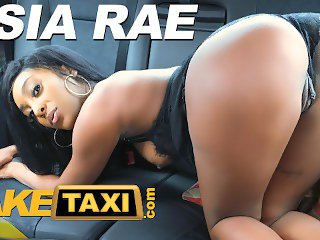 Fake Taxi Ebony babe Asia Rae fucked and sprayed with cum