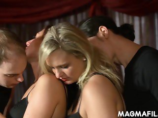 Two young wife swapping couples
