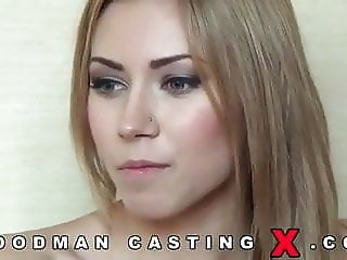 Great casting with a skinny blonde beauty