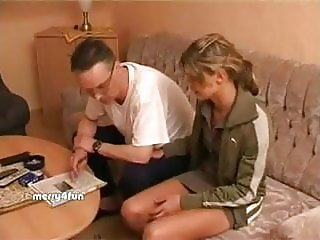 German teen seduces and fucks her horny stepdaddy