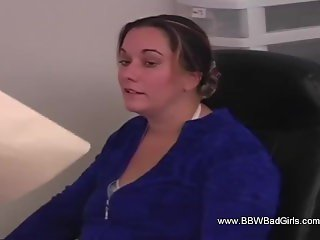 Spanking Her Big BBW Ass Red