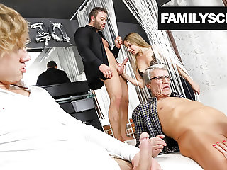 Family visits a Swingers Club for the First Time