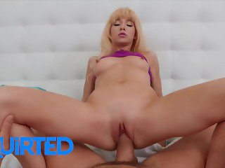 Squirted - Skinny blonde Kenzie Reeves pays rent with pussy juice