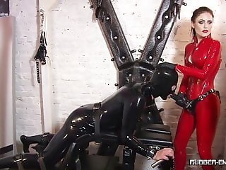 2 mistresses do what they want with a slave