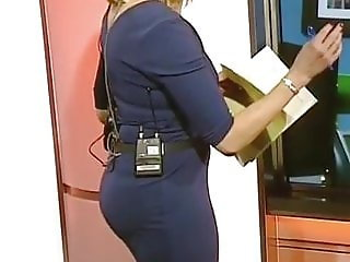 Cum For Sexy MILF Louise Minchin Bangin Ass In Tight Dress