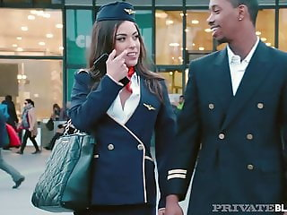 PrivateBlack - Flight Attendant Anastasia Brokelyn Is Fucked