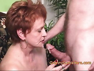 Filthy Cum Sucking Granny