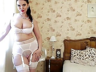 Mature mom in lingerie 1