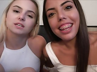 Aria Banks & Rachel Rivers Schoolgirls Steal Your Virginity