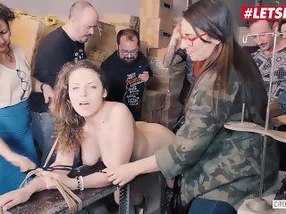 LETSDOEIT - Big Boobs Girl Bound Hard and Given Multi Orgasms
