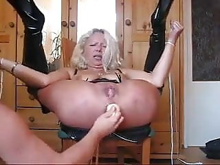Danish grandma tied down and anally abused