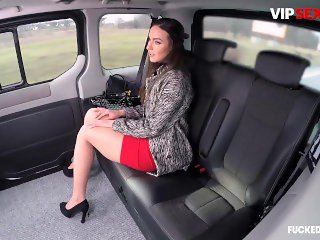'Fucked In Traffic - Nataly Gold Sexy Russian Brunette Sucks A Big Dick Hard In The Car'