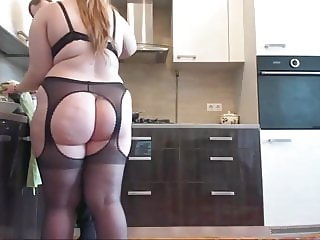 Chubby Wife in Stockings