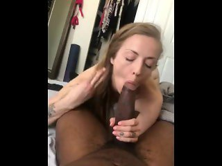 Milf Jerks me off until she sucks the Cum Out - IG/Twitter SevyanHarden