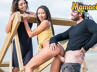 Chicas Loca - Teen Cutie Cassie Del Isla Takes A Big Dick By The Beach