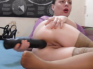 Dildo anal gaping on webcam