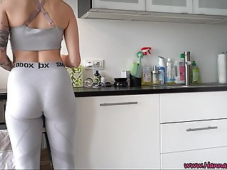 German Girl Fucked Hard! CREAMPIE AFTER SPORTS!