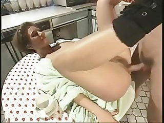 Mom's Hairy Cunt Gets A Cock For Breakfast