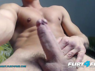'Flirt4Free - Alain Jarry - Athletic Stud with a Big Cock Shows Why He'd Be Amazing in Bed'