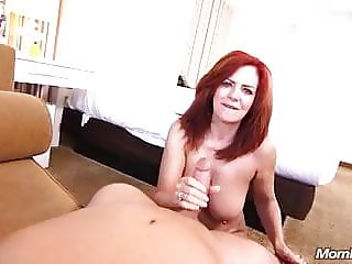 53 years old redhead MILF anal sex and creampie