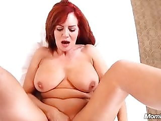53 years old redhead MILF stripped and sucked dick