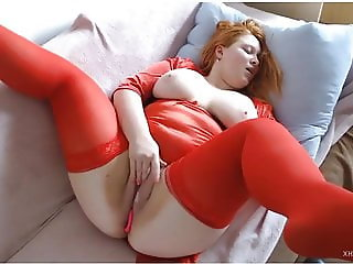 English Busty Bug Boobs Pale Redhead Masturbation