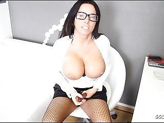 German Big Tits Secretary MILF give perfect Dirty Talk