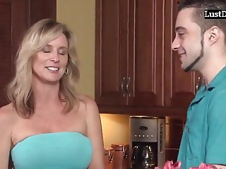 Amateur Big-tits Mom With Her Stepson Fucking