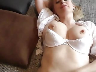 Postman cums in MILF