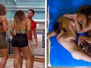 Two Big Ass Brazilian Sisters Get Fucked By A White Guy