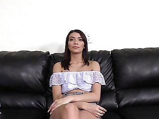 Beautiful 21 yo brunette gets ass fucked on casting couch