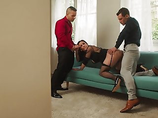 Black Stockings, French Slut NATASHA INK, Threesome DP