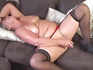 Sexy Mature In Stockings With Dildo By TBM