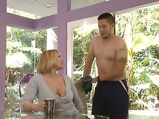 Mellanie Monroe pounding doggystyle with son in law