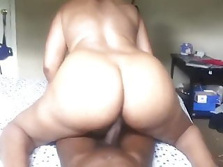 THICK GILF RIDING AND SQURTING ON YOUNG BLACK DICK