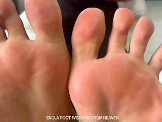 'ENOLA FOOT WORSHIP - FOOT SMELLING - LICKING - COMPILATION - STORE 132573'