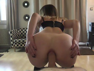 German Brunette Deep Anal