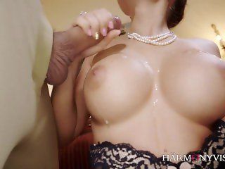 'Fucking a big titty slut intense and cumming on her tits'