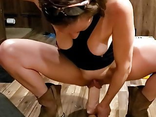 My Girl Squatting Over Monster Dildo, Suction Pussy Lips