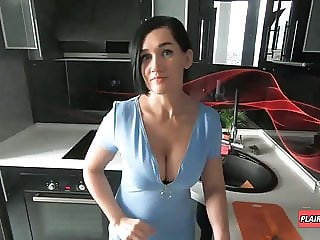 Busty Stepmom had to Handle my Hard Cock during Lockdown