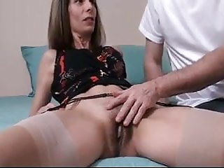 Mom wants cum in her mouth after you fuck her hairy cunt.