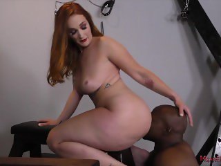 'Siri Makes Her Slave Kiss Her Ass & Worship Her Feet in the Dungeon'