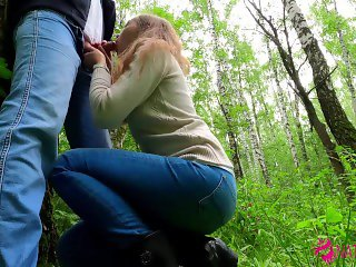'CUTE SCHOOLGIRL DOES PUBLIC BLOWJOB IN PARK - CUM IN MOUTH - AMATEUR TEEN NataSweet'