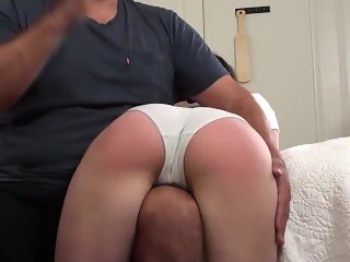 Daddy's girl caught masturbating, spanked, exposed and humiliated
