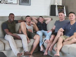 Hot guys in a orgy