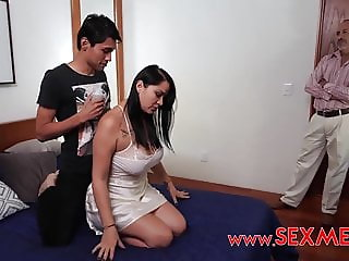 The Son Blackmailed   Father And Fucked The Sleeping Mom