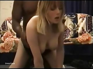 Sexy Blonde with great tits getting pounded by her bbc