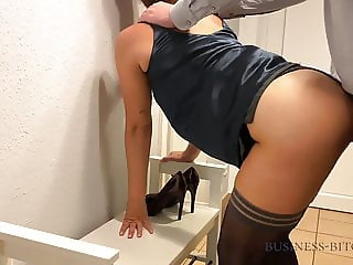 business woman fucked by the boss on bench - business-bitch