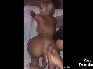 Two Hoes Sucking and Fucking at the hotel
