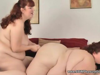 'bbw & ssbbw strapon play'